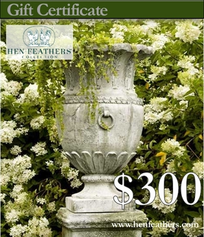 HenFeathers $300 Gift Certificate