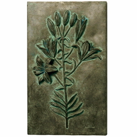 Large Lily Study with Blossoms Wall Decor
