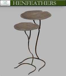 Lily Pad Nesting Side Tables- Set of 2