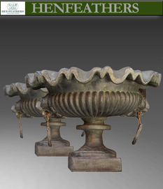Lion's Head Urn Pair {USA}