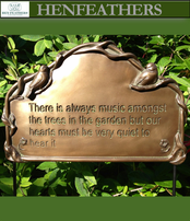 Music Amongst The Trees Plaque w/birds and vines