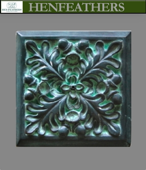 Oak Leaf Bronze Wall Tile 7""