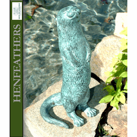 Otter - Bronze Garden Sculpture Fountainhead