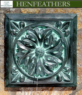outdoor wall fountains bronze rosette