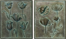 Poppy And Tulip Studies Set of 2 Sample