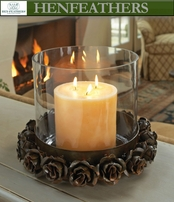 Rose Study Hurricane Candle Holder (n)