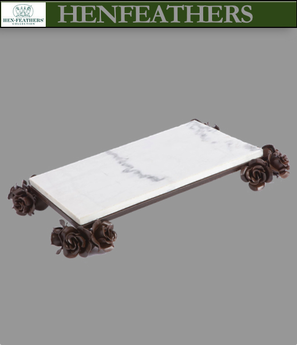 Rose Study Marble Tray (n)