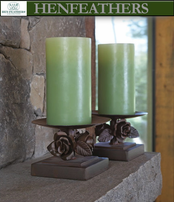 Rose Study Pedestal Candle Holder (n)