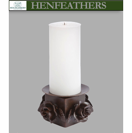 Rose Study Pillar Candle Holder (n)