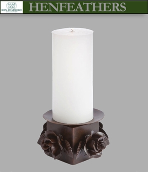 Rose Study Pillar Candle Holder Sample