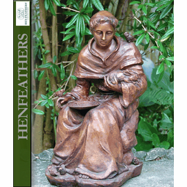 Saint Francis D'Assisi - Bronze Garden Sculpture, Small