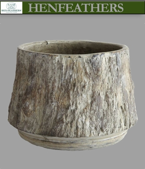 Saunders Woods Faux Bois Pot Tapered (n)