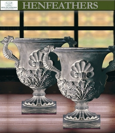 Seahorse Urn Pair - Photo Shoot Sample