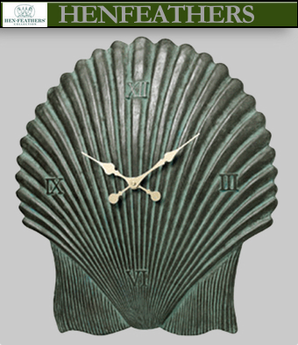 Large Scallop Shell Clock - Antique Aegean