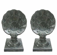 Shell Finial, Pair