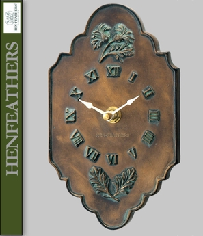 Thistle Clock Bronze