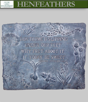 How Thyme Herb Decorative Wall Plaque {USA} : HenFeathers.com
