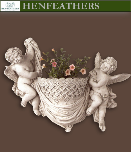 Vintage Angels Weave Wall Cachepot