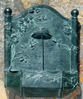 Wall Water Fountains - Bronze Clematis Vine