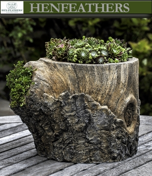 Walnut Faux Bois Planter
