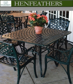 "Woven Arch Square Patio Table 32"" {USA}n"