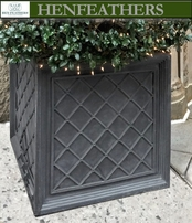 Lattice Weave Planter (Aluminum) {USA}n