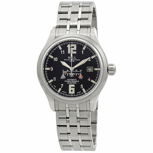 Ball NM1056D-SAJ-BK Trainmaster Power Glow Mens Automatic Watch