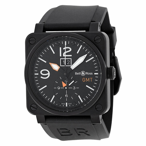 Bell and Ross BR0351-GMT-CA Aviation Mens Automatic Watch