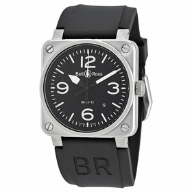 Bell and Ross BR0392-BLC-ST Aviation Mens Automatic Watch