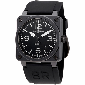 Bell and Ross BR0392-CER-BLP/SRB Aviation Mens Automatic Watch