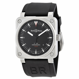 Bell and Ross BR0392-HOR-BLC/SRB Aviation Mens Automatic Watch