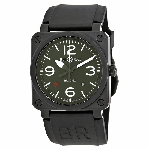 Bell and Ross BR0392-MIL Military Type Mens Automatic Watch