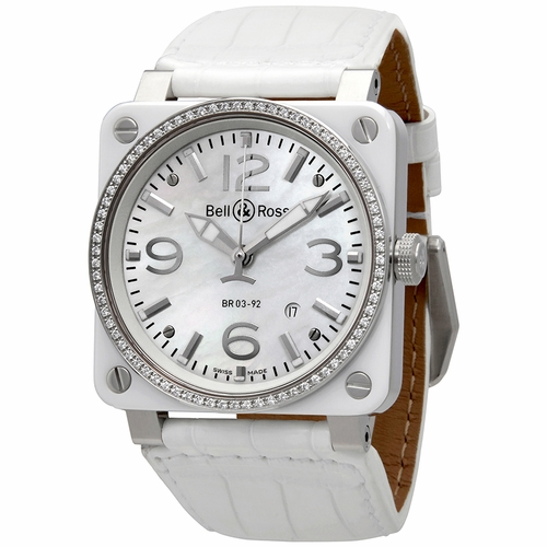 Bell and Ross BR0392-WH-C-D/SCA Aviation Unisex Automatic Watch