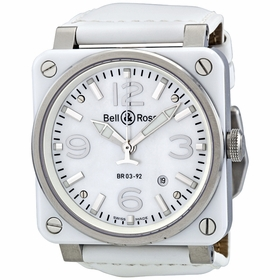 Bell and Ross BR0392-WH-C/SCA Aviation Mens Automatic Watch