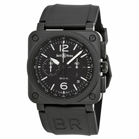 Bell and Ross BR0394-BL-CE Aviation Mens Chronograph Automatic Watch