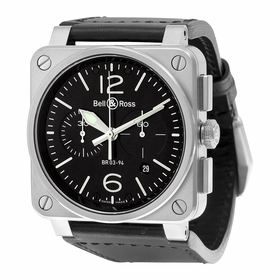 Bell and Ross BR0394-BL-SI/SCA Chronograph Automatic Watch