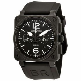 Bell and Ross BR0394-BL-ST-CA Aviation Mens Chronograph Automatic Watch