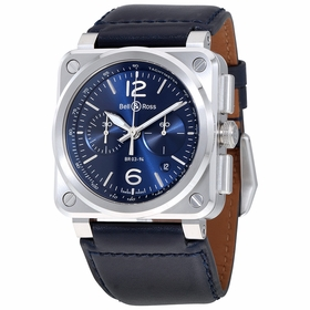 Bell and Ross BR0394-BLU-ST/SCA Chronograph Automatic Watch