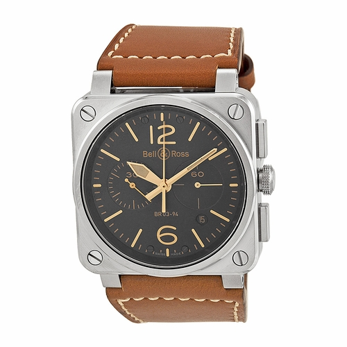 Bell and Ross BR0394-ST-G-HE/SCA Chronograph Automatic Watch