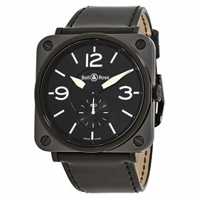 Bell and Ross BRS-BL-CEM-BKPAT Aviation Mens Quartz Watch