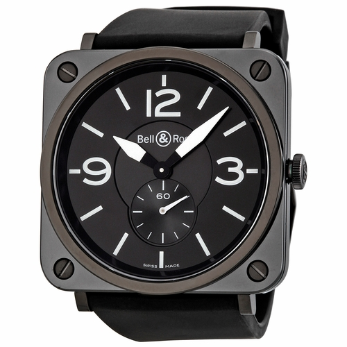 Bell and Ross BRS-BLC-MAT/SRB Aviation Unisex Quartz Watch