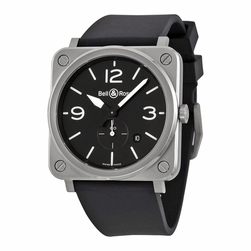 Bell and Ross BRS-BLC-ST Aviation Mens Quartz Watch