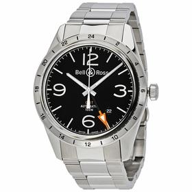 Bell and Ross BRV123-BL-GMT/SST Vintage Mens Automatic Watch