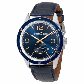 Bell and Ross BRV123-BLU-ST/SCR Vintage Mens Automatic Watch