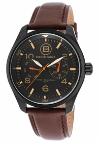 Ben and Sons BS-10010-BB-01 Marshall Mens Quartz Watch