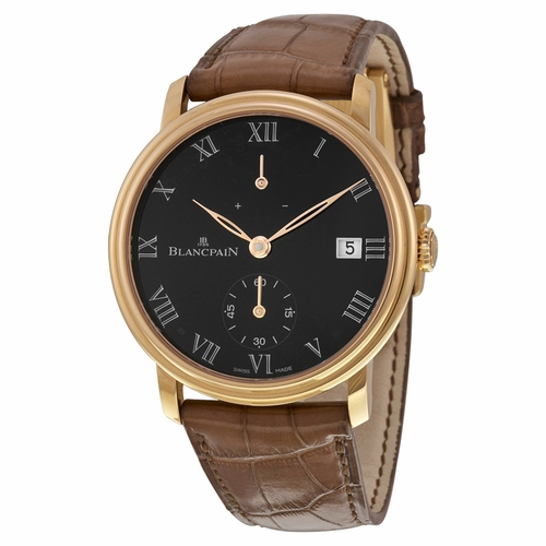 Blancpain 6614-3637-55B Villeret 8 Days Mens Hand Wind Watch