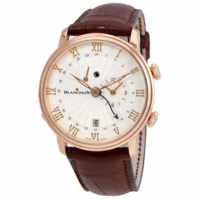 Blancpain 6640-3642-55B Villeret Reveil GMT Mens Automatic Watch