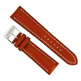 Breitling 24 MM Light Brown Leather Strap