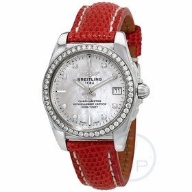 Breitling A7433053/A780RDZT Galactic Ladies Quartz Watch