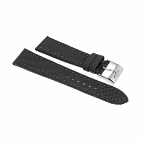 Breitling Antharacite Canvas Watch Band Strap 24 mm-20 mm Tang Buckle